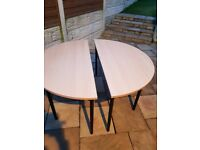 2 piece circular office table