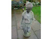 garden statue - lady with water jug