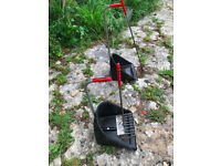 £3 x2 Stubbs Stable Mate Rake and Manure Scoop - used but still very serviceable, tall and short