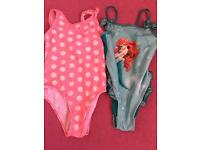 Girls swimming costumes age 5/6