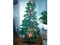 5 FT Xmas tree and decoration
