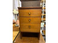 Meredew Bedside Cabinet - Retro Teak Mid Century Vintage