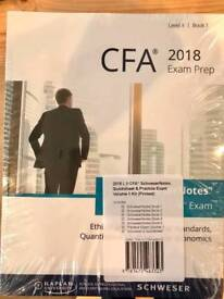 CFA 2018 Schweser Kaplan University books