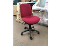 Sven Christiansen Black & Red Fabric Swivel Office Chair x3
