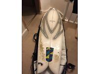 "Circle one 5'10"" quad Fish surf board kite surf epoxy board bag and fins"