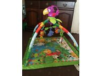 1) Fisher-Price Baby Playmat (Rainforest Gym). 2) Vtech Activity Table