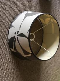 Black and white modern lamp shade