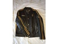 Tommy Hilfiger Men Race Real Leather Jacket Size L