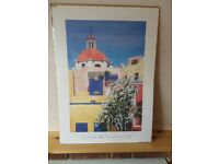 NEW unframed poster/print 'Red dome, Guanajuato' by Alana Richardson 70cm x 50 (27.5x19.75 inches)