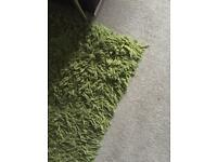 Large green rug