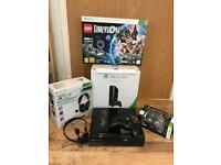 Xbox 360 S console Lego Dimensions Mine Craft and accessories