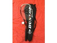 Dunlop Squash racket + ball + bag