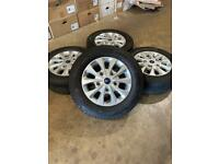 """Set of 16"""" genuine Ford alloy wheels and tyres Ford Transit Custom Mk7"""