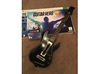 Xbox 360 guitar hero game