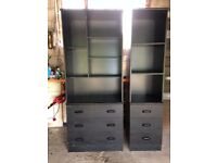FREE - Black Ash bedroom furniture set (2 x drawers, 1 x desk, 2 x dressers) - Glasgow / Torrance