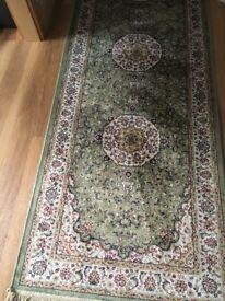 Beautiful man made silk rug brand new