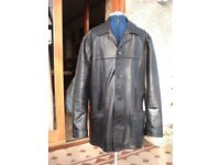 man's Linea black leather jacket in good condition