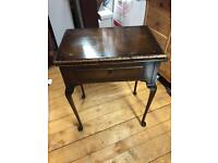 Queen Anne Style SINGER SEWING MACHINE Wooden Table Only