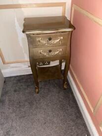 Gold antique style bedside tsbmd