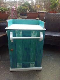 Antique Victorian Wash Stand Cabinet
