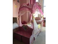 £65.00 Princess Carriage Bed with mattress if wanted for sale in good condition