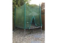 Used 10 foot trampoline with enclosure. Good condition