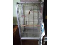 large parrot/cockatiel cage on stand