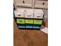 Boys dinosaur toy storage 9 drawers with matching lampshade