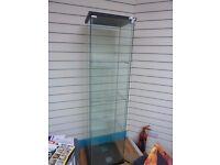 Lockable glass cabinet
