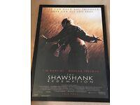 Framed Shawshank Redemption poster