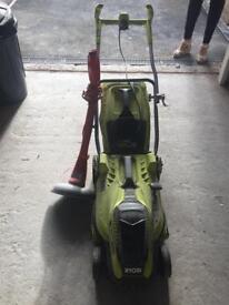 Ryobi 1600w lawn mower & Flymo strimmer
