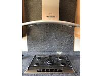 Neff 5 ring gas hob with extractor