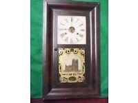 Antique American Wall Clock Circa (1850)