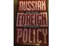 RUSSIAN FOREIGH POLICY PAPERBACK BOOK