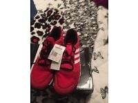brand new in the box mens adidas essential star m trainers size 12 colour red and white