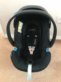 Cybex Aton baby car seat with adaptors