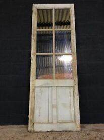 Antique French Original Painted Door Mirror