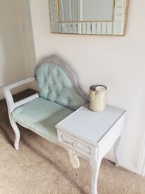 Solid wood up-cycled vintage telephone table/hall table