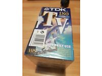 TDK 180 mins VHS tapes - Pack of 5 - sealed