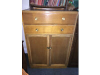 Lovely Vintage Utility Tallboy Cabinet / Large Cupboard & Chest of Drawers