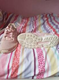 Pink addids trainers