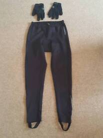 Clothes cycling black bicycle size L