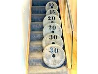 CONCRETE WEIGHTS AND DUMBBELLS GYM EQUIPMENT