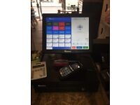 EPOS System - cash drawer, screen, till printer, card scanner and 10 cards