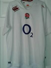 Mens England Canterbury Rugby Shirt