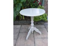 Painted Pine Pedistal Lamp Table / Bedside Table