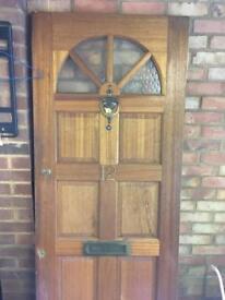 Wooden External Door (hinges, lock, key, letterbox included)