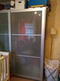 Ikea Pax Wardrobe - great quality, beech style & glass doors, needs to be dismantled and collected,