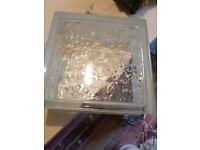 8 pieces FUCHS glass blocks bubble 19x19x8 cm