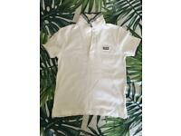 374a8fc5a01d Hugo Boss boys white polo T-shirt 10 yrs